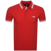 BOSS Athleisure Paddy Polo T Shirt Red